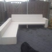 Loungebank KESA met hocker2